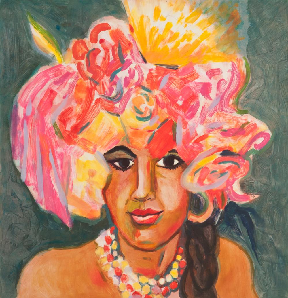 """Karen Heagle   """"Batacuda"""" 2007. Monotype Series. 22 x 30"""""""