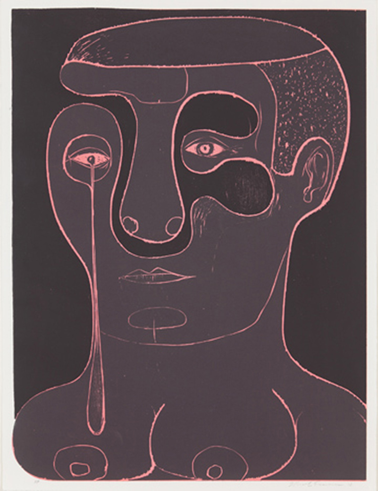 "Nicole Eisenman   ""Untitled"" 2012. Woodblock Edition of 15. 22 x 30"""