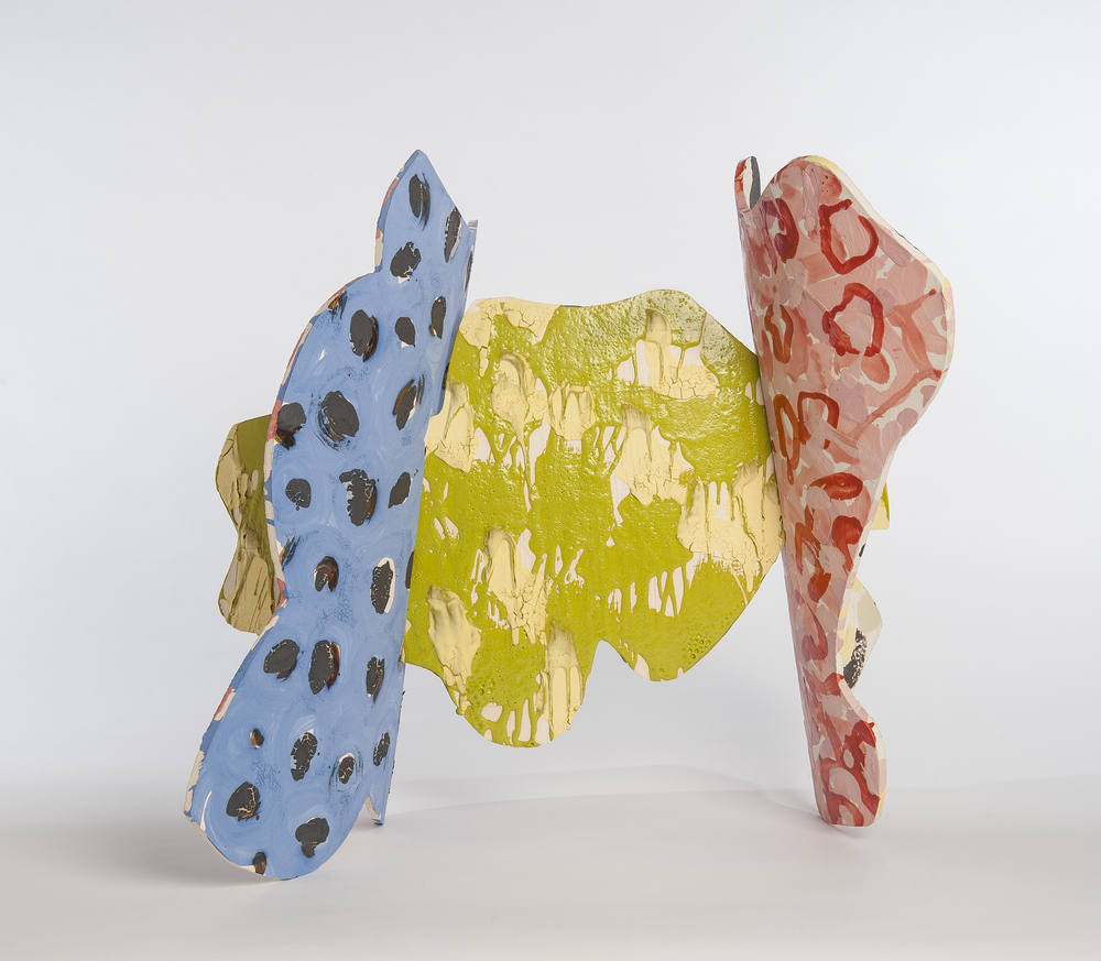 "Kay Harvey ""Ceramic Cut Outs #13"" 2014. Glazed Stoneware. 36 x 20 x 28.5"""