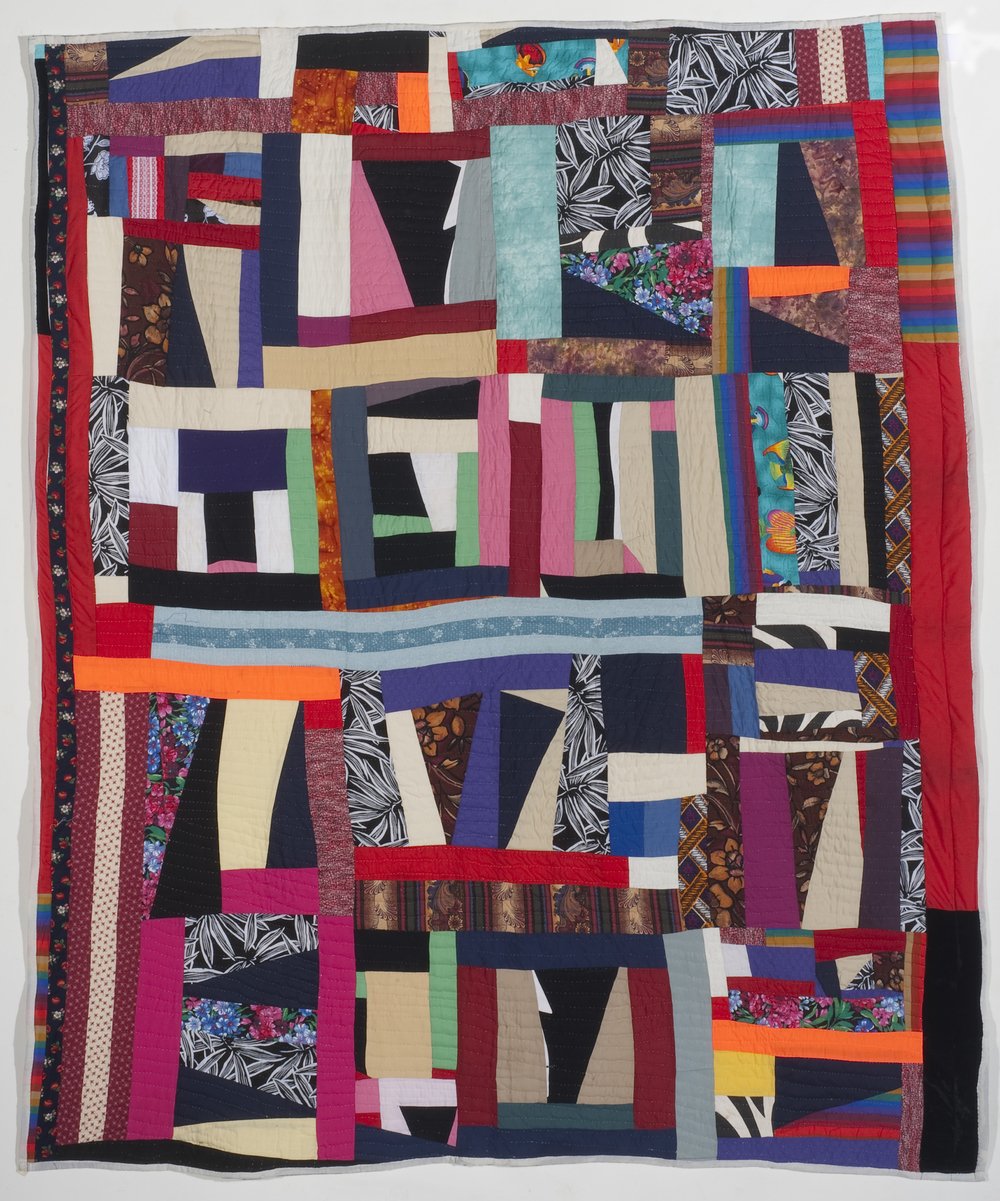 "Mary Lee Bendolph ""Growth Spell"" 2009. Quilted Fabric. 86 x 75"""