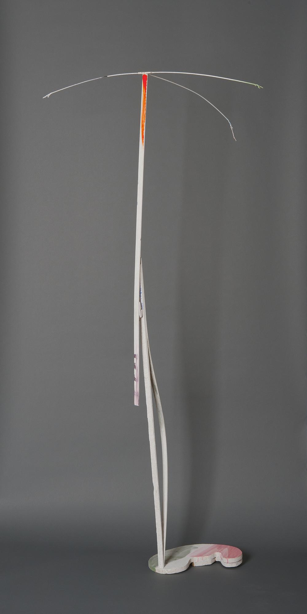 "Ellen Babcock   ""Crane #1"" 2013.Wood, Paint.75 x 30 x 42"""