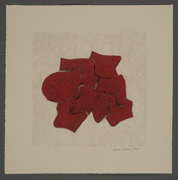 """Nino Caruso  Untitled , 2009, mono print, 15"""" x 15"""""""