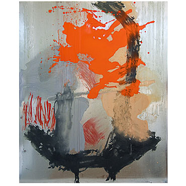 Kay Harvey Stracotto VII, Works on Metal, 2008-2006, 59 x 47 inches, painting, Oil & Carborundum on Aluminum Sheets