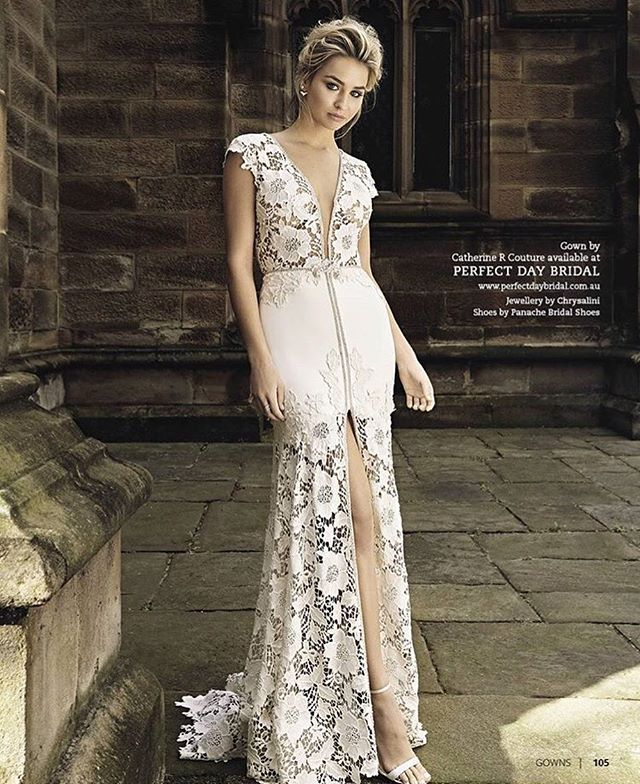So nice! Our Angel gown looking angelic in @modernweddingmagazine  For our wonderful stockist @perfectdaybridal in Sydney  accessories by @chrysalini  #weddingmagazine #weddinginspiration #weddingstyle #weddingdress #bridetobe #bride #fashion #weddingday #couture #couturedress