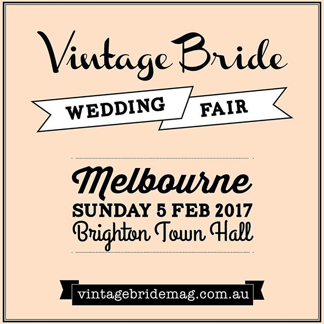 To all you vintage brides out there - this is a must for you! So much to see there.. including us!! Get your tickets online now . #bridalevent #vintagestyle #vintage #vintagefashion #vintagelove #vintagelook #weddingfair #vintagebride