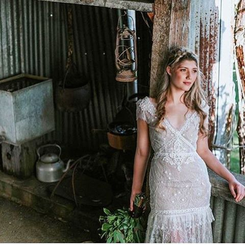 Loving this image of our French lace sample ' Lacey'  by @emmawisephotography - gorgeous work as always Emma!  @inglewoodestate  Model @isabellademartini98  #vintagebride #vintagelook #vintagelove #vintagefashion #weddingphoto #weddingvenue #weddingphotographer #bridetobe #bridestyle