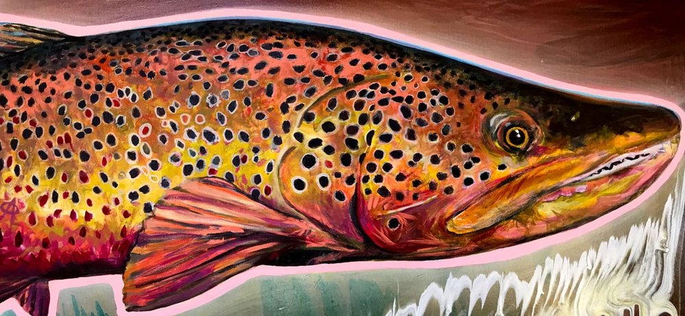 Custom Trophy Fish Painting -