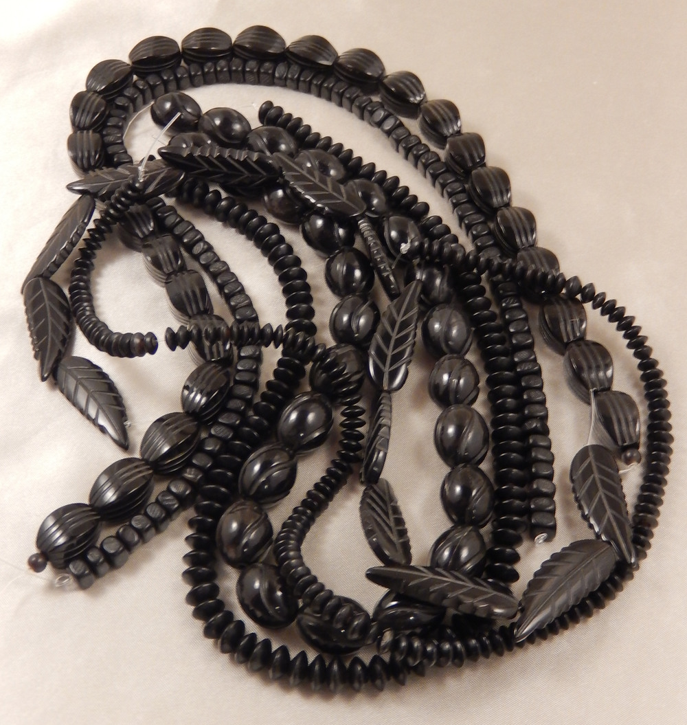 Black horn beads, soon to be another must have piece of jewelry from Fine Design Jewelry by Roberta Swift.