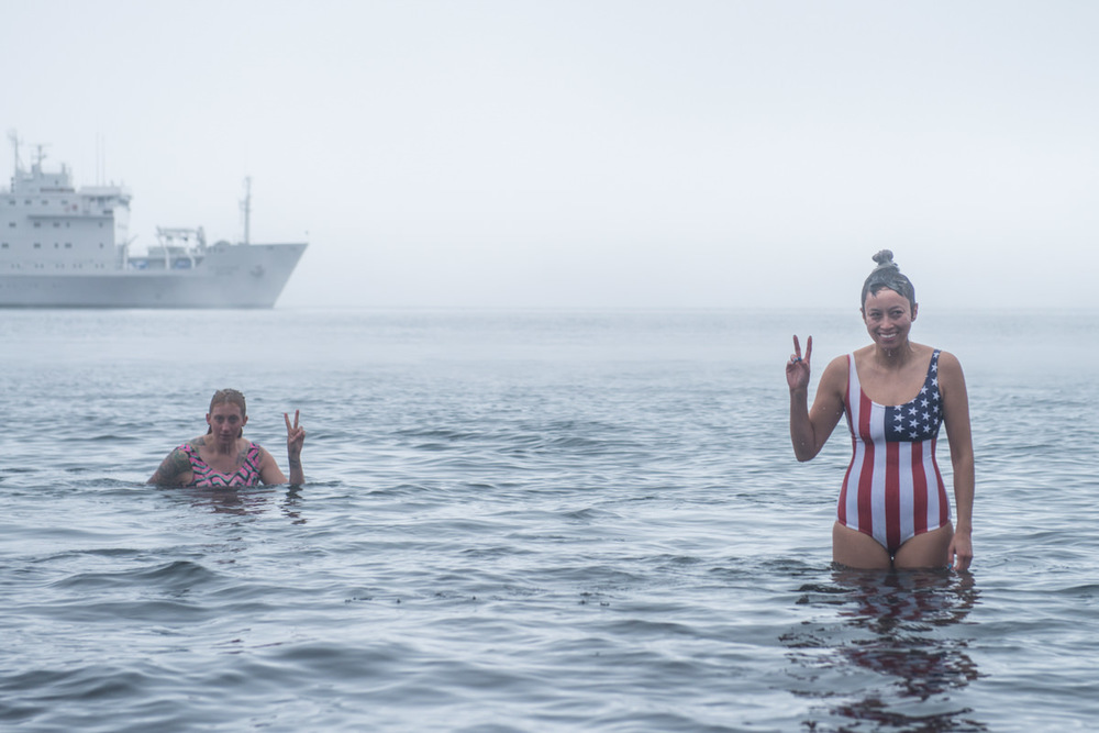 Polar plunge photos by Jeff Topham