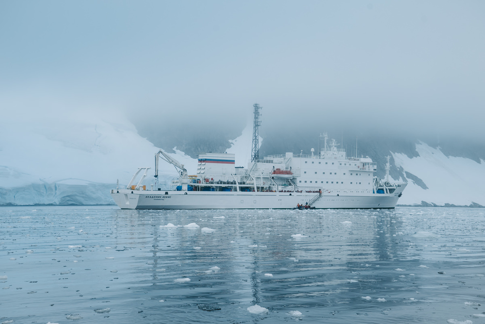 The first look at our ship in Antarctica