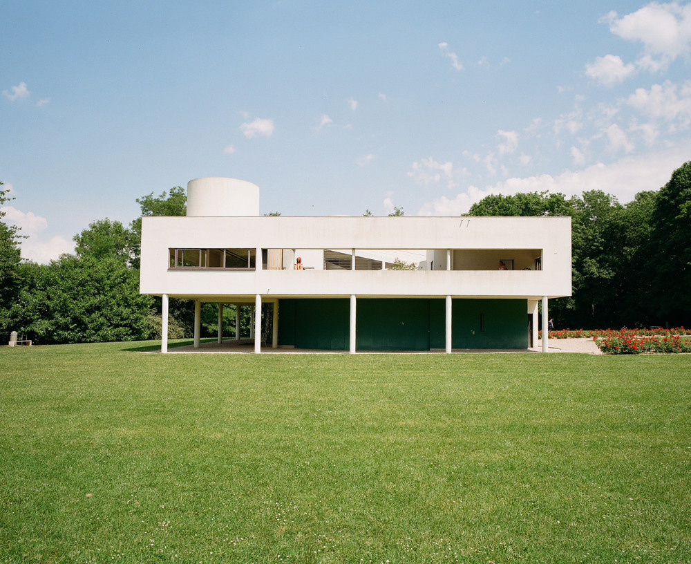There's a hot dog on the loose at Villa Savoye