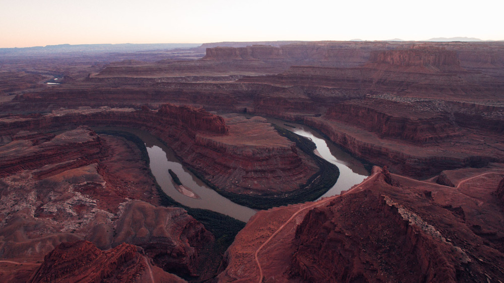 Because flying a drone and walking your dog isn't allowed in the National Park, we went to Dead Horse Point State Park to drone the sunset. I got the shot before being told I couldn't drone there either.