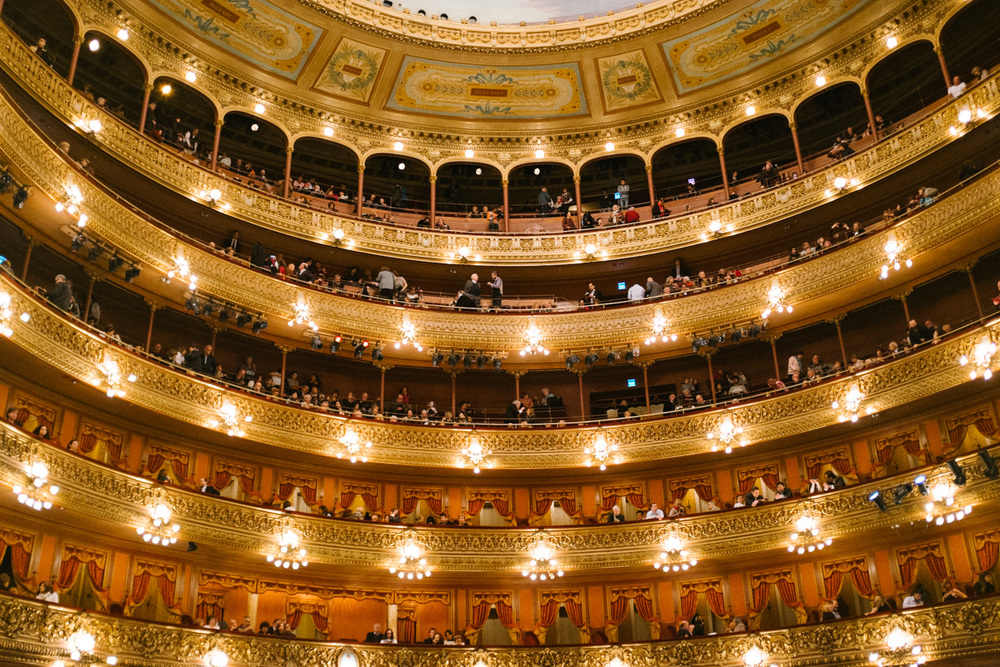 Following our day trip to Tigre, Martin brought us to Teatro Colón where we watched the Buenos Aires Philharmonic perform from our own balcony box.