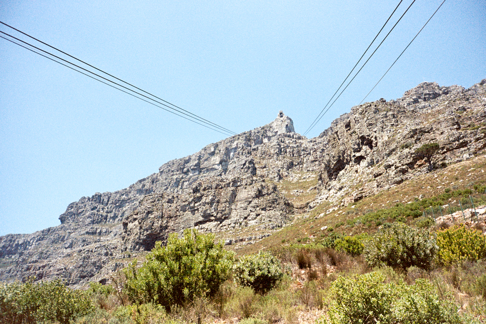 Cable tram to the top of Table Mountain which overlooks the entire city