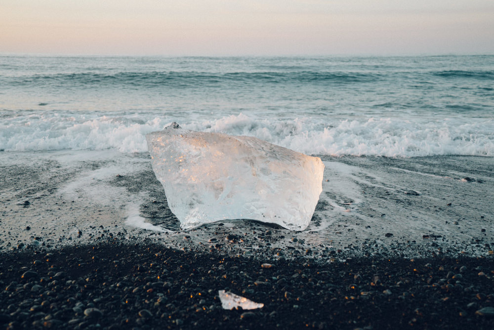 Beached ice.