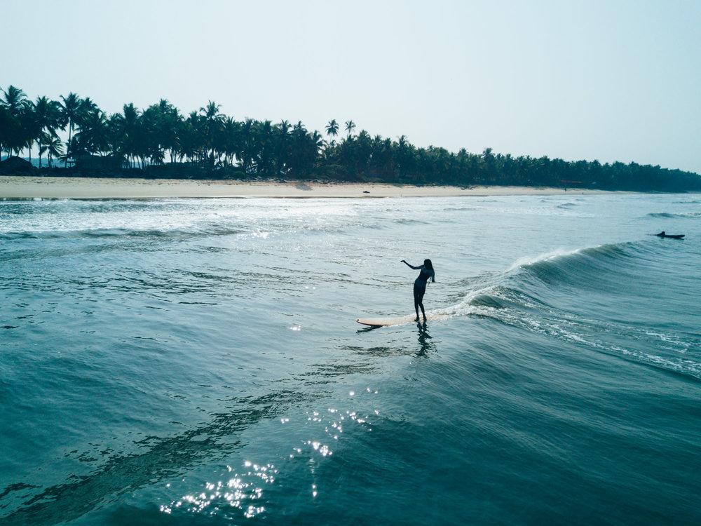 Ishita surfing