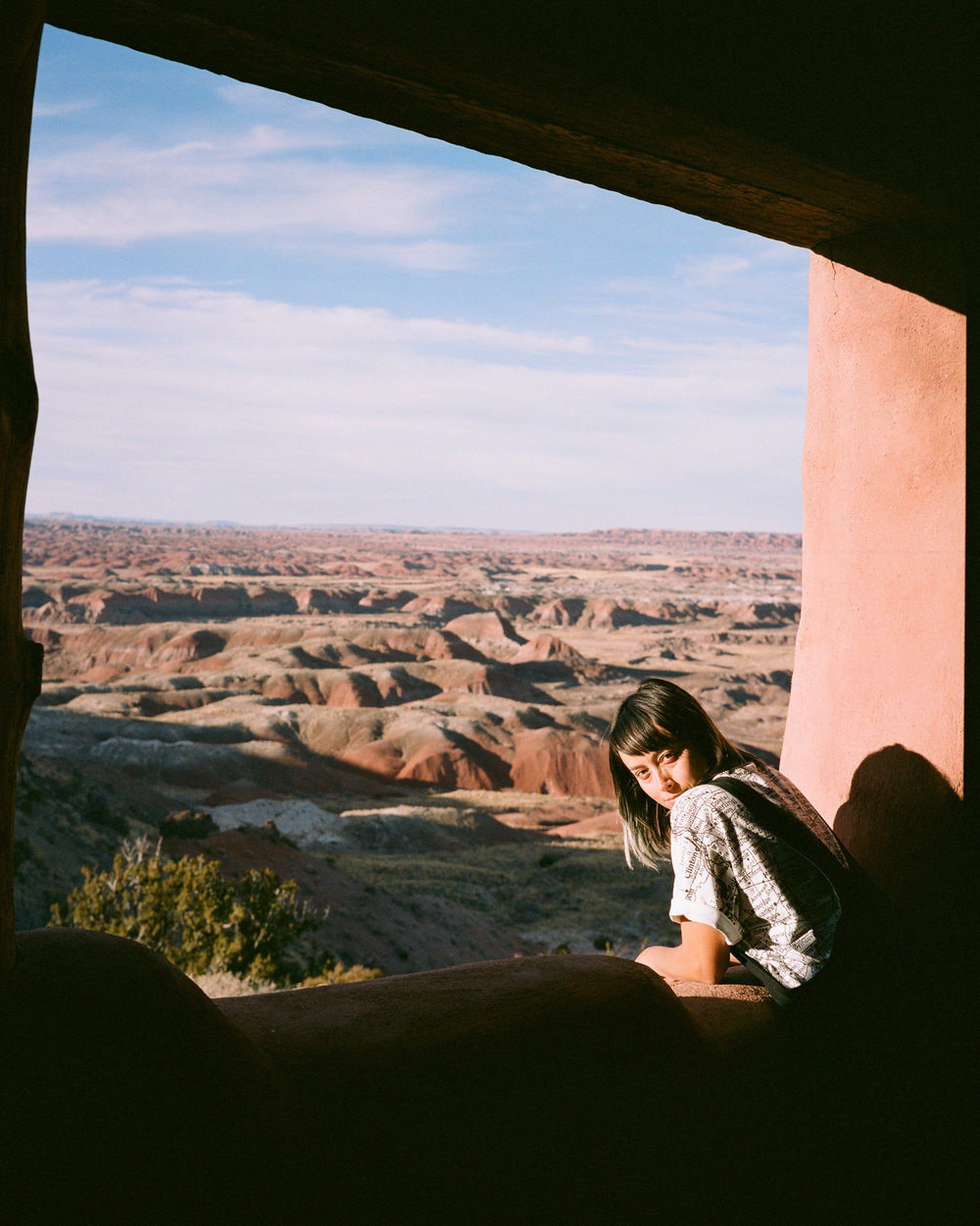 Overlooking the Painted Desert from the historic Painted Desert Inn.