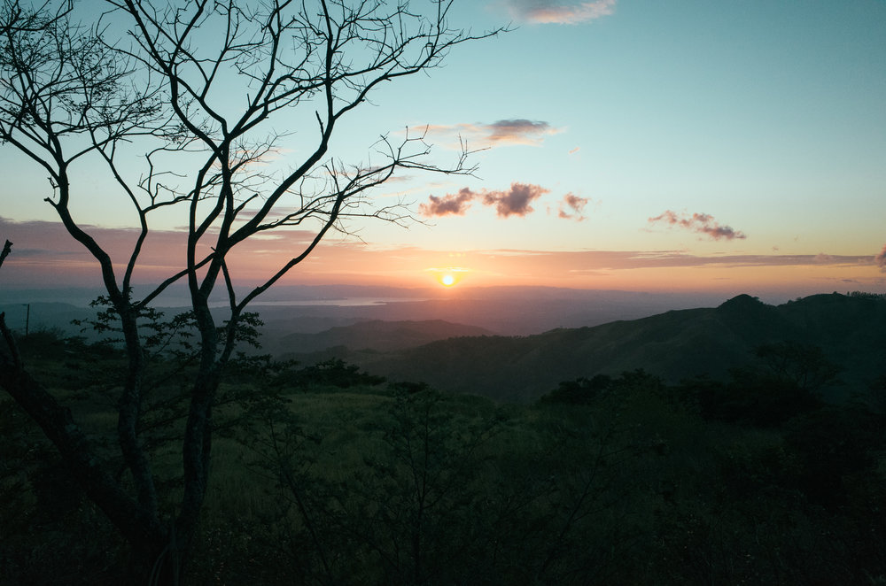 Sunset from atop Monteverde