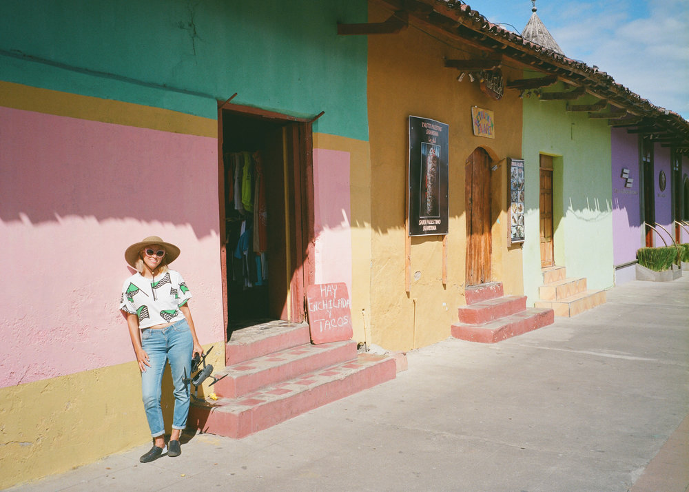 Colorful facades in the town of Grenada, Nicaragua