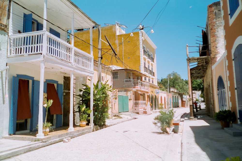 Colorful French colonial architecture