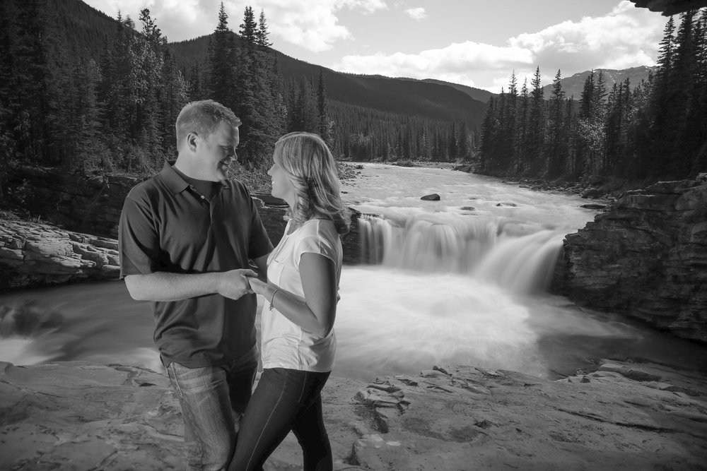 Engagement Photos Sheep River Falls