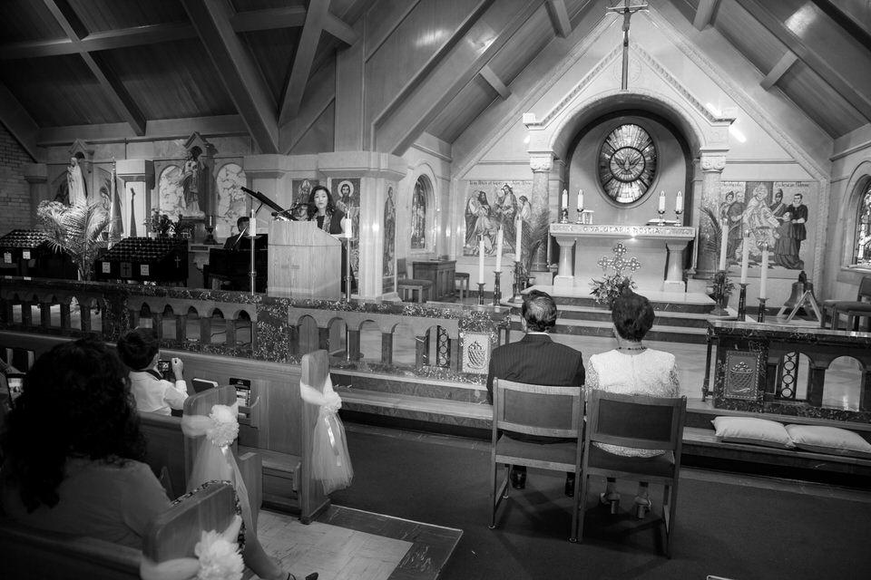 Wedding at St Mary Catholic Church in Banff