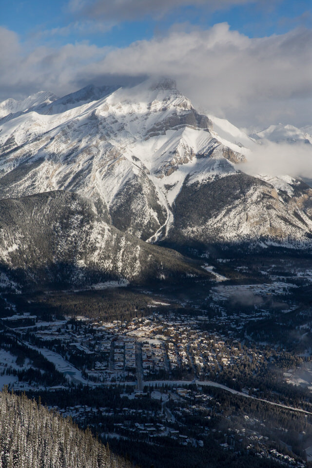 Cascade Mountain and the town of Banff