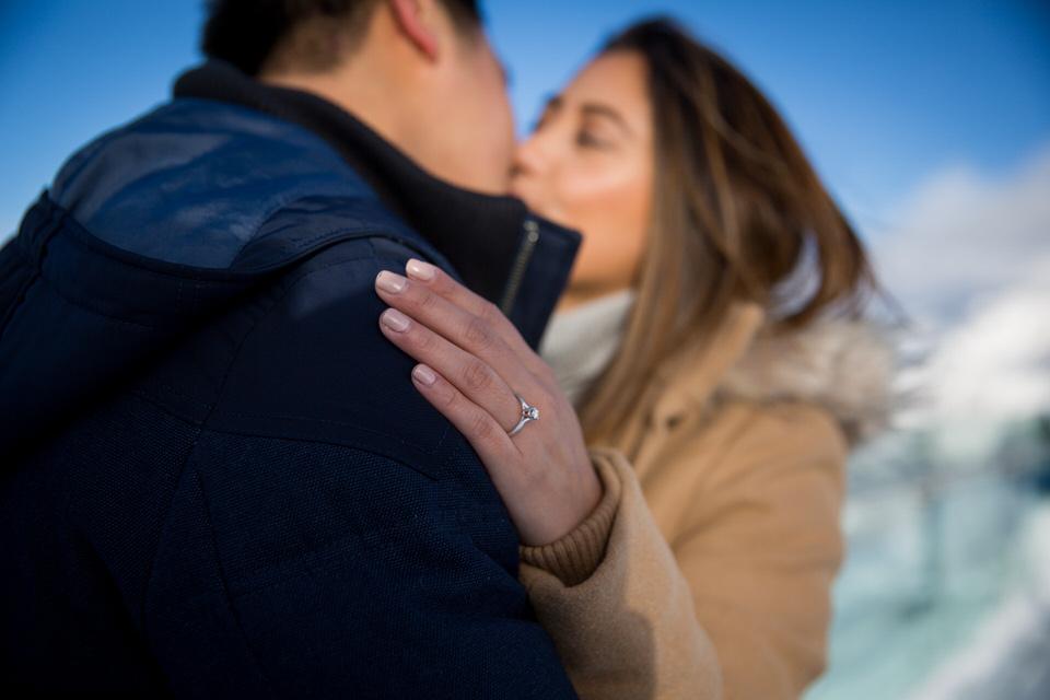 banff Engagement Photography surprise proposal