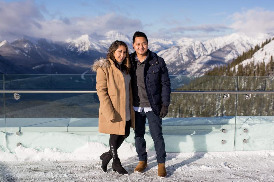 Surprise Proposal in Banff on Sulphur Mountain