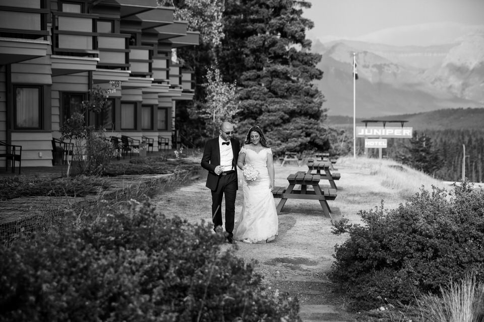 Wedding at Juniper Hotel in Banff, AB.