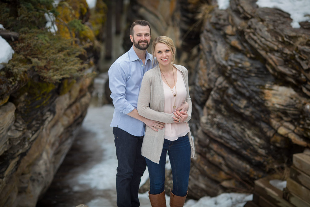 Engagement Photos Athabasca Falls Jasper