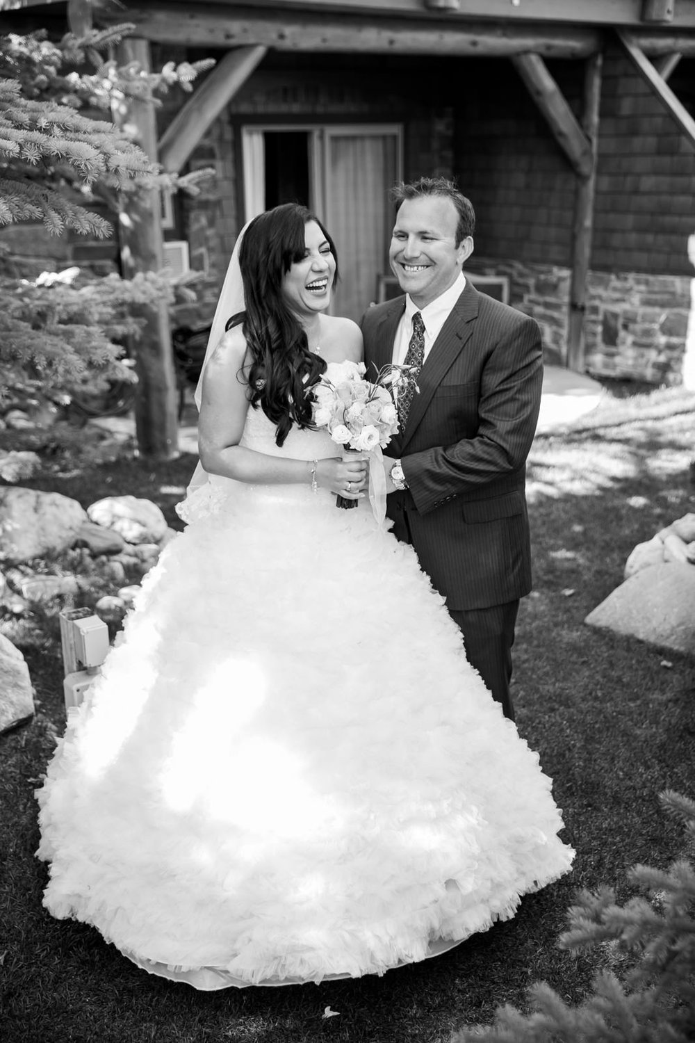 Bride and Groom at Bear and Bison Inn