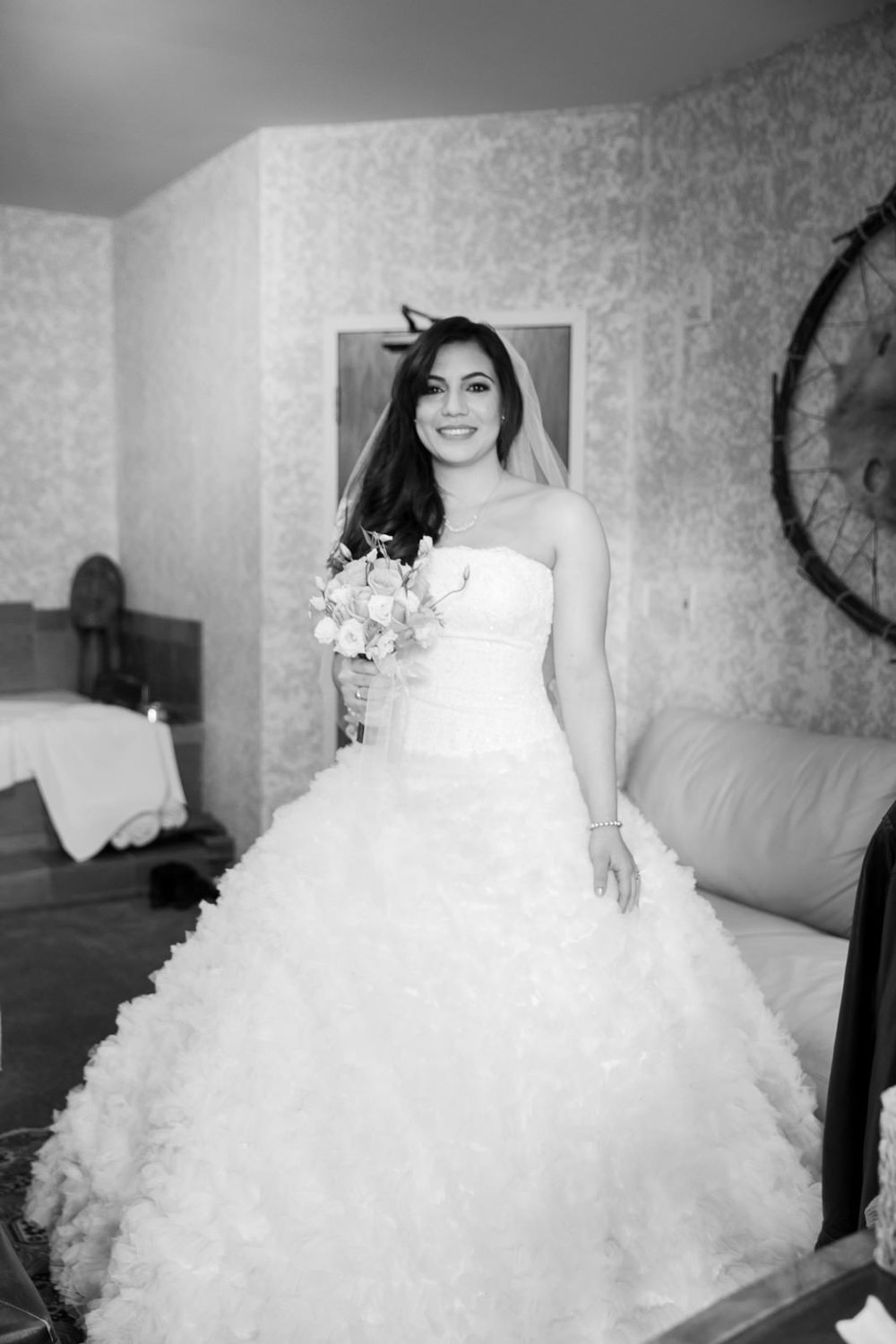 Bride at Bear and Bison Inn