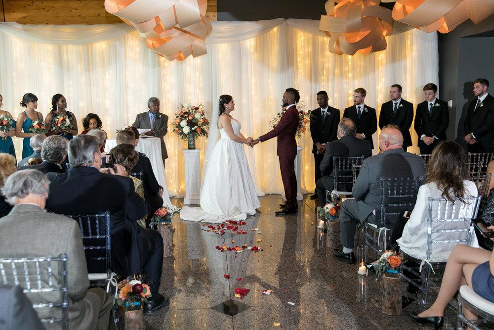 Photo of wedding ceremony at Azuridge Estate