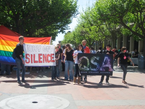 Queer Student Union (previously Queer Straight Alliance) Day of Silence March '09