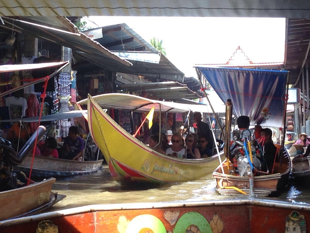 The market is full of boat and mercant