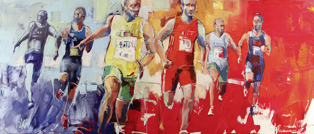 BIG RUN, 110x270 cm/43,3x106,3 inch, acrylic on canvas