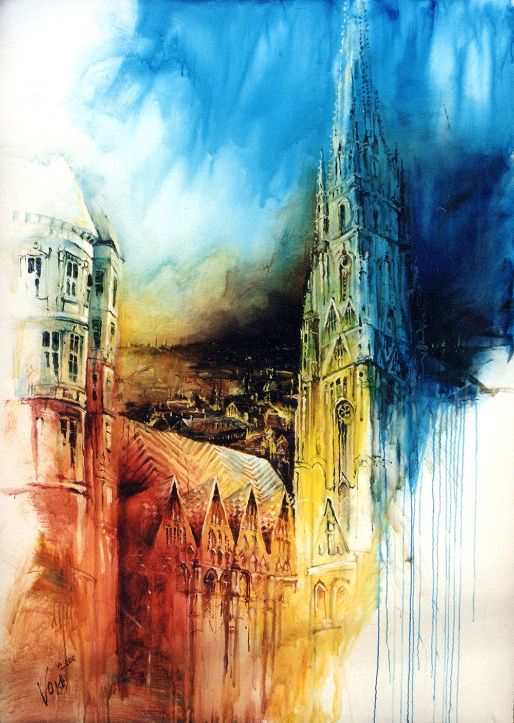 Vienna, 270X190cm / 106,2X74,8 inch, Acrylic on Canvas