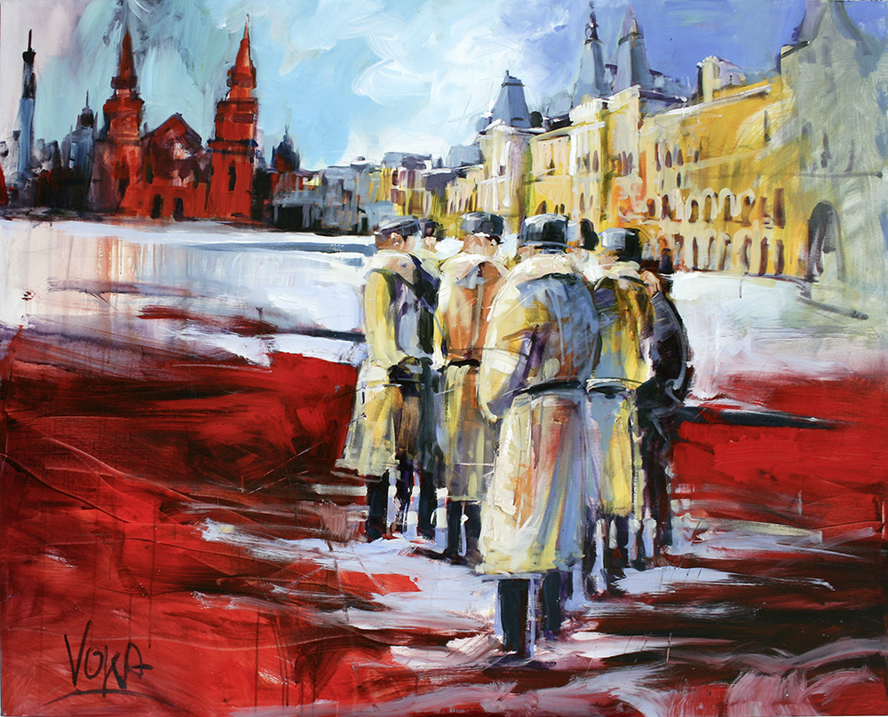 Moscow, 100X150cm / 39,4X59,1 inch, Acrylic on Canvas