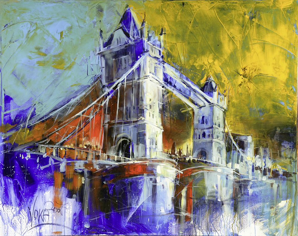 Tower Bridge, 120x150 cm / 47,2 x 59,1 inch, acrylic on canvas