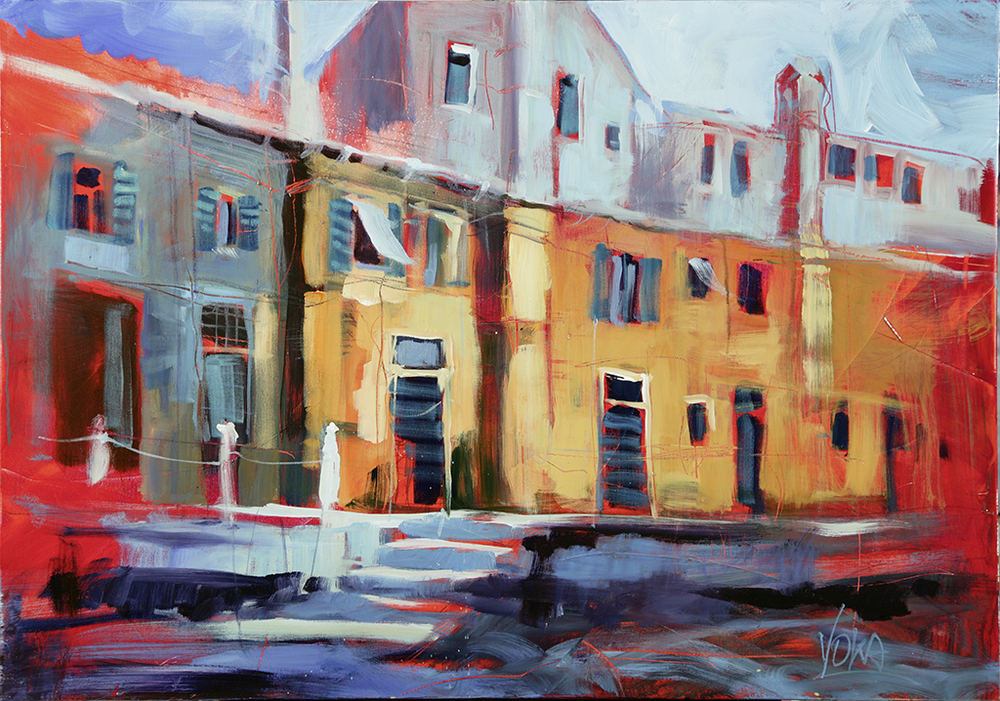 Venezia - Canale, 100x80 cm / 39,4 x 31,5 inch, acrylic on canvas