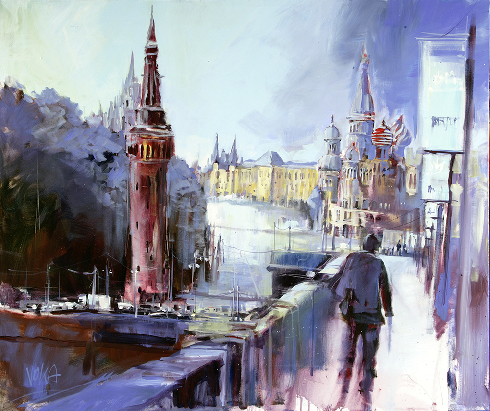 Moscow, 100X120cm / 39,4X47,2 inch, Acrylic on Canvas