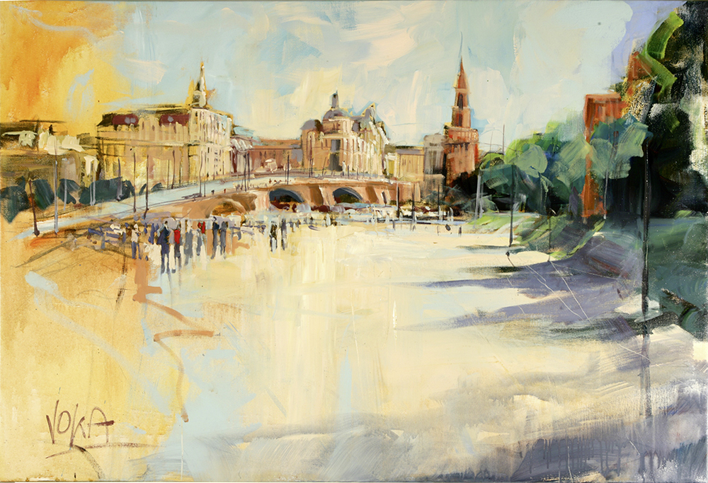 Moscow, 80X118cm / 31,5X58,1 inch, Acrylic on Canvas