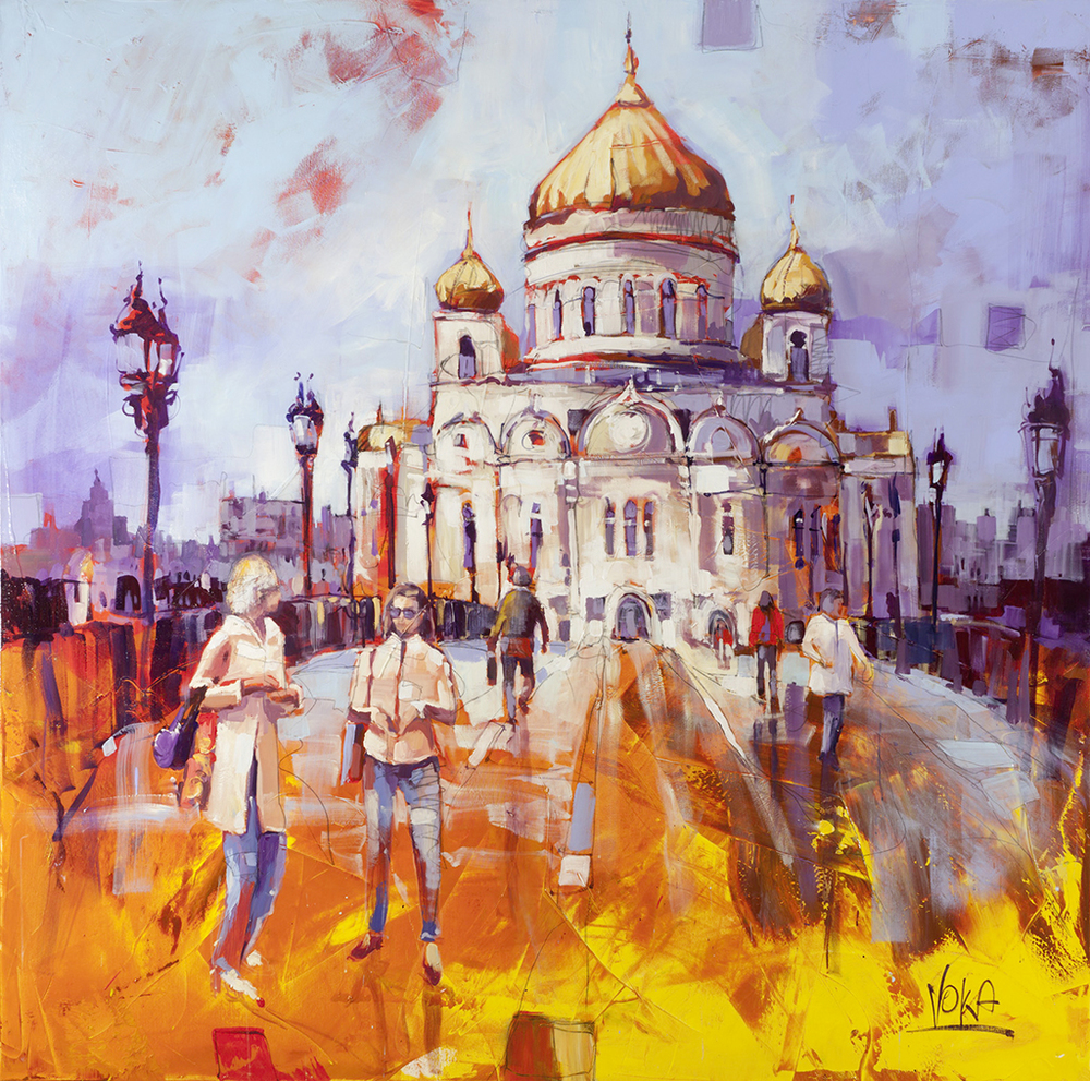 Moscow, 180X180CM/70,9X70,9 INCH, ACRYLIC ON CANVAS