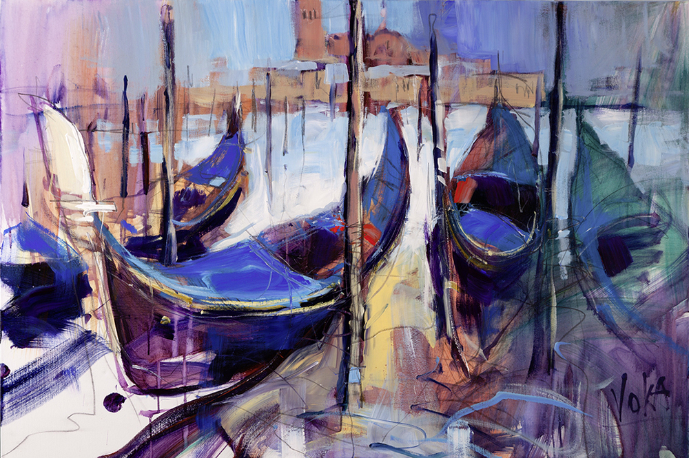 Venezia Gondola, 80x120 cm/31,5 x 47,2 inch, acrylic on canvas.
