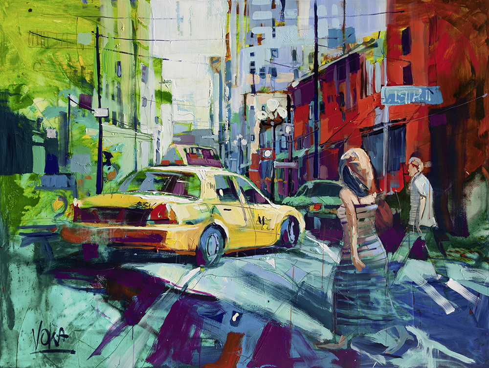 New York City , 150x200 cm/59,1 x 78,7 inch, acrylic on canvas