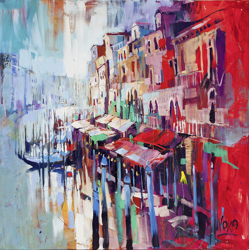 Venezia, 180x180 cm/70,87x70,87 inch, acrylic on canvas.