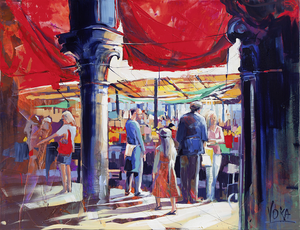 Venezia-Fishmarket, 130x170 cm/51,18x66,93 inch, acrylic on canvas