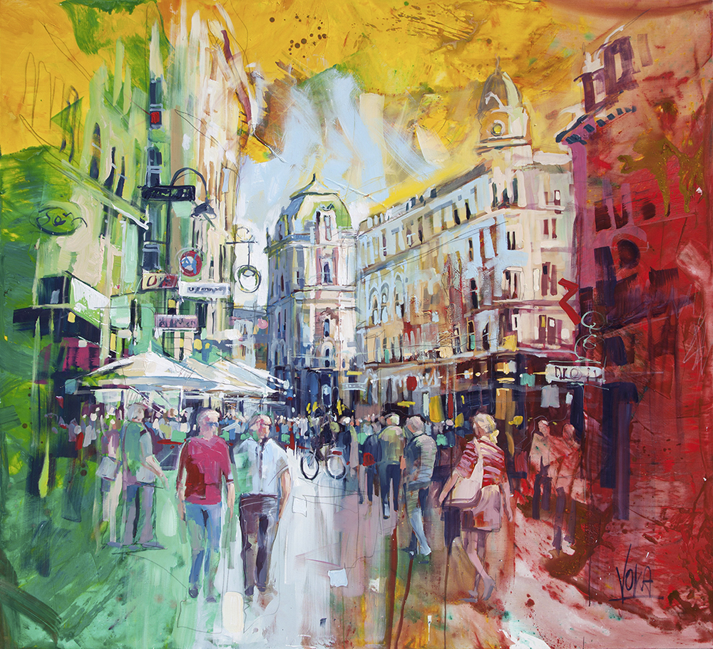 Vienna, 200x220 cm/86,61x86,61 inch, acrylic on canvas