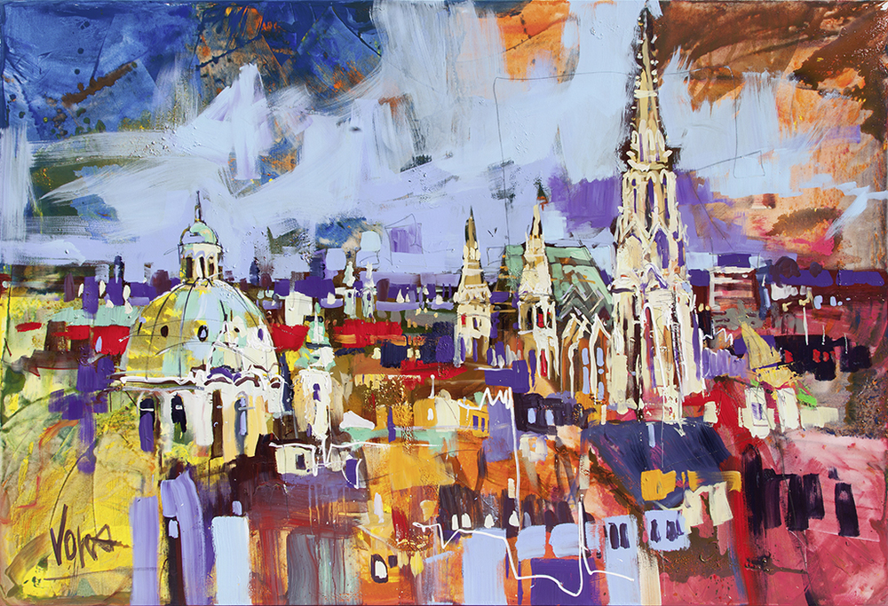 Vienna, 190x280 cm/74,8x110,24 inch, acrylic on canvas